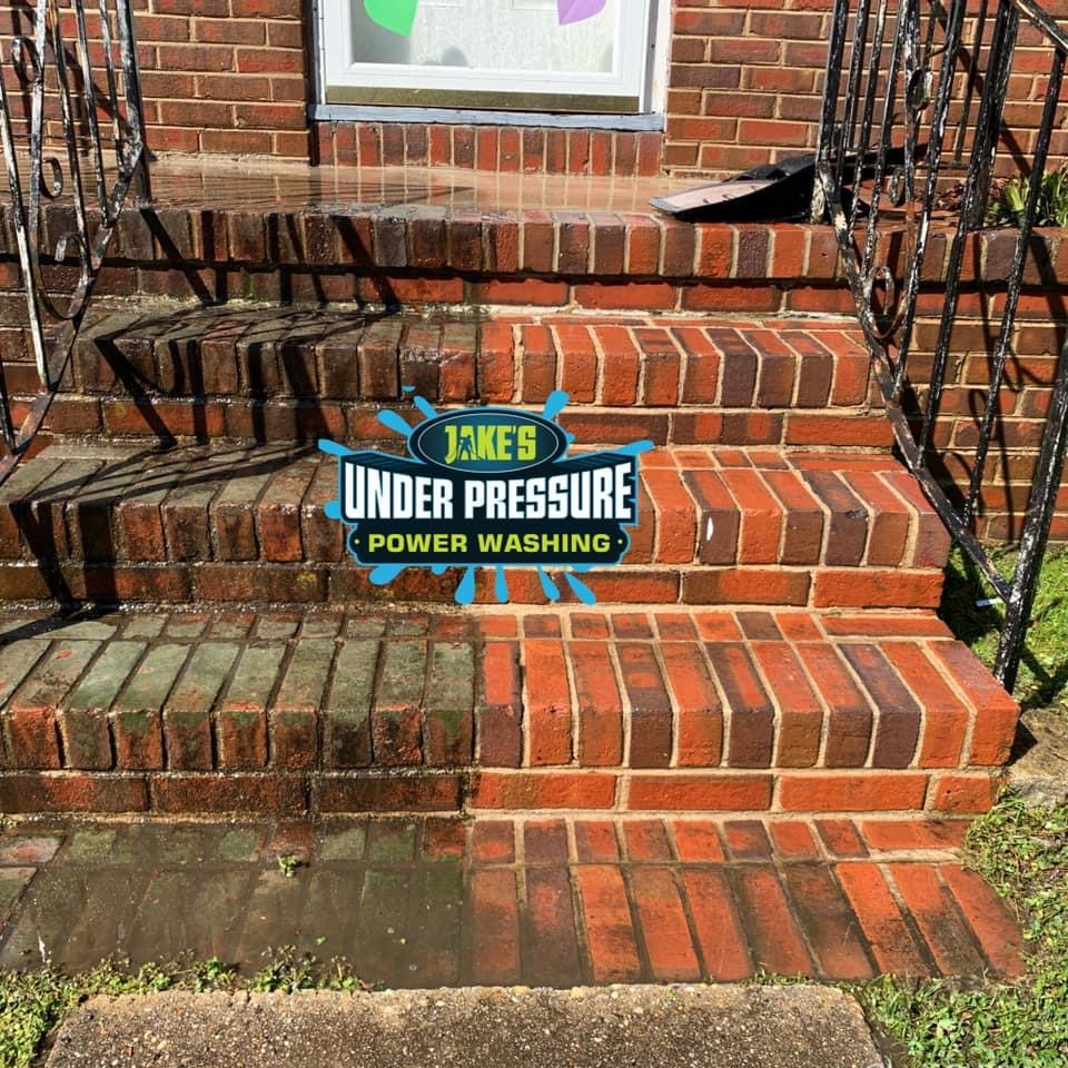 Brick Porch Cleaning